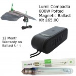 Lumii Compacta 600W Magnetic Potted Ballast Kit